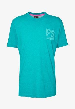 T-shirt z nadrukiem - neon blue