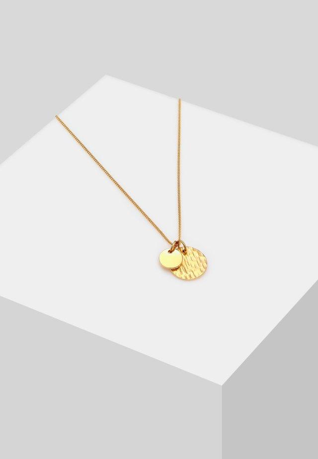 GEO GEHÄMMERT  - Necklace - gold-coloured