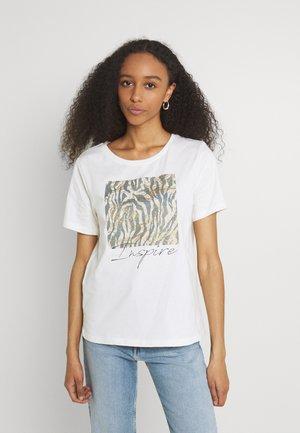 BXSILLI - Print T-shirt - stonewash mix