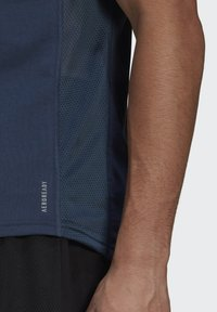 adidas Performance - OWN THE RUN SOFT T-SHIRT - Print T-shirt - blue - 4