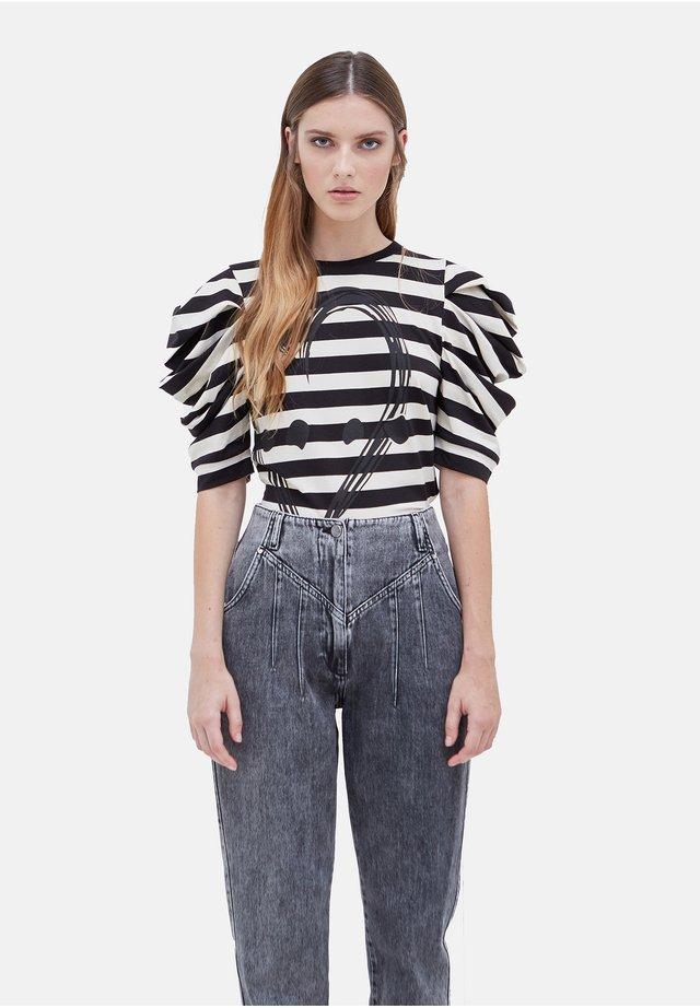 CON LOGO - Print T-shirt - nero