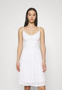 ONLY - ONLNEW ALBA SMOCK MIX DRESS - Cocktail dress / Party dress - bright white - 0
