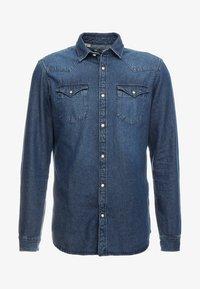 SLHSLIMNED SMITH - Shirt - medium blue denim