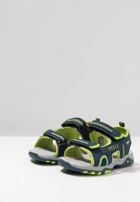 KangaROOS - LOGAN - Walking sandals - dark navy/lime - 3
