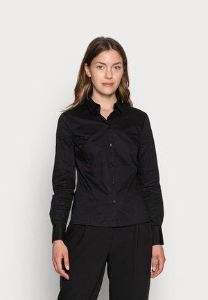 FAKE SLIM FIT BUSINESS BLOUSE  - Camicia -  black