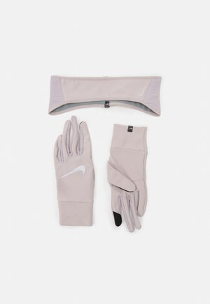 WOMENS ESSENTIAL RUNNING HEADBAND AND GLOVE SET - Handschoenen - silver lilac/particle grey/silver