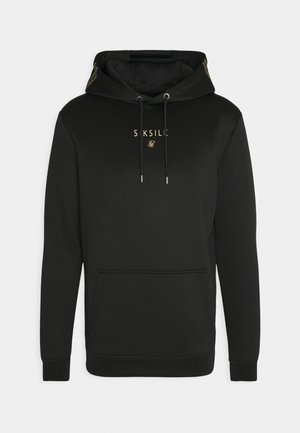 ELEMENT MUSCLE FIT OVERHEAD HOODIE - Jersey con capucha - black/gold