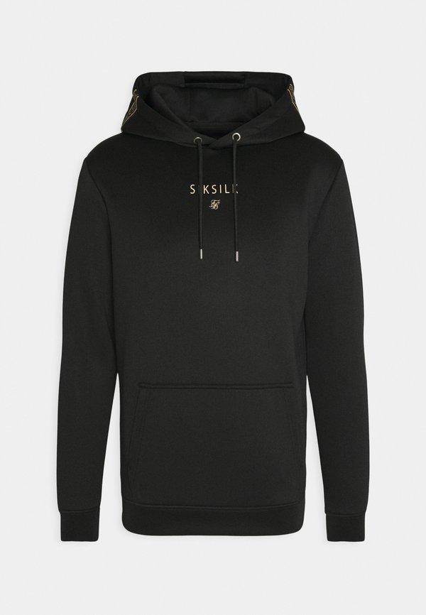 SIKSILK ELEMENT MUSCLE FIT OVERHEAD HOODIE - Bluza z kapturem - black/gold/czarny Odzież Męska FSTK