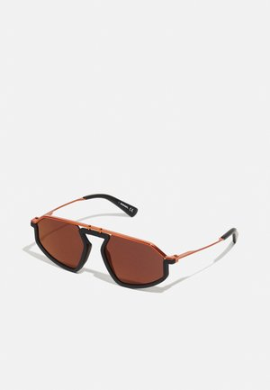 UNISEX - Sunglasses - matte black/smoke flash