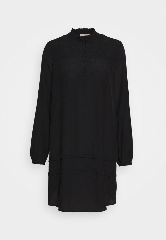 SIGNECR MINI DRESS - Shirt dress - pitch black