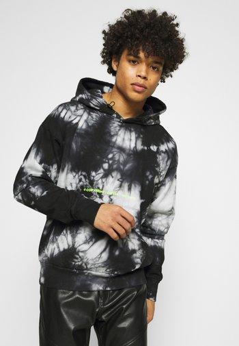 S-ALBYEL-X4 SWEAT-SHIRT UNISEX - Hoodie - black/grey tye dyed
