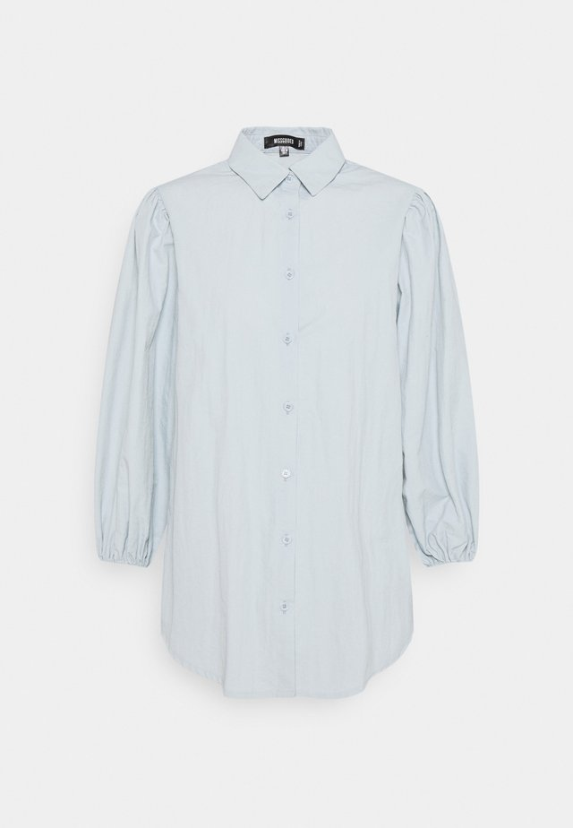 PUFF SLEEVE SHIRT - Button-down blouse - baby blue