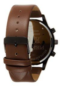 Pier One - SET - Reloj - black/cognac - 3