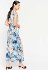 LolaLiza - FLORAL AND LEOPARD PRINT - Maxi dress - light blue - 2