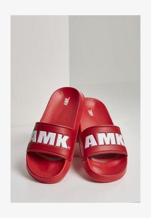 AMK SLIDES - Rantasandaalit - red white