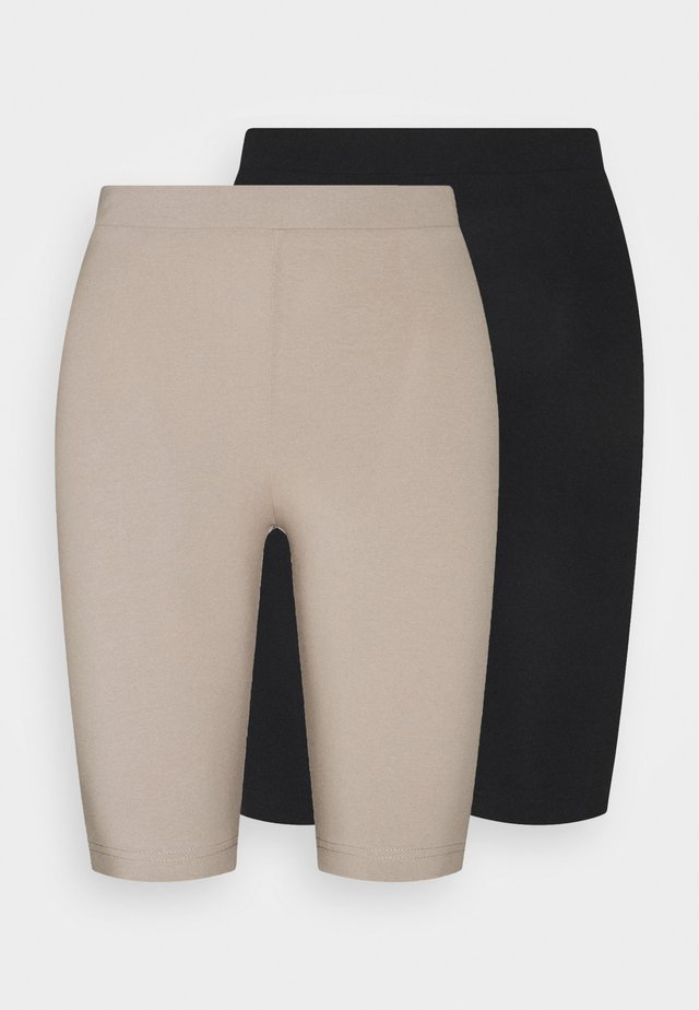 EDDA 2 PACK - Shorts - black dark/beige