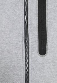 Nike Sportswear - HOODE MIX - Tröja med dragkedja - dark grey heather/iron grey/black - 5