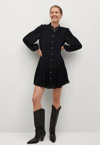 Mango - SOFIA - Shirt dress - noir