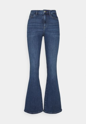 VMSIGA SLIM - Bootcut jeans - medium blue denim