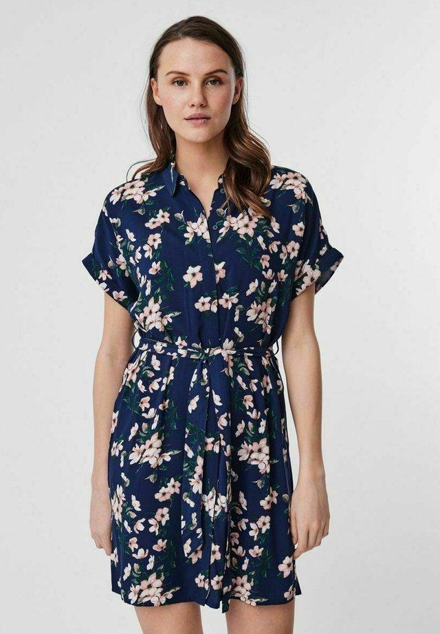 VMSIMPLY EASY SHIRT DRESS - Blousejurk - navy blazer