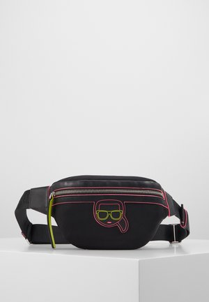 IKONIK NEON BUMBAG - Bum bag - black