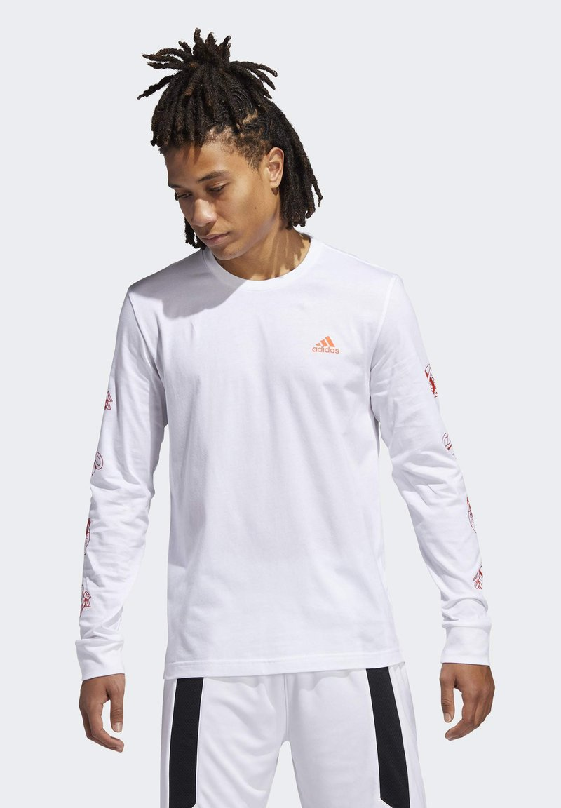 adidas Performance - LIL STRIPE CANNONBALL T-SHIRT - Longsleeve - white
