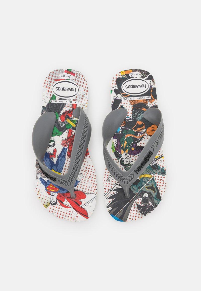 Havaianas - MAX HEROES - T-bar sandals - white/steel grey