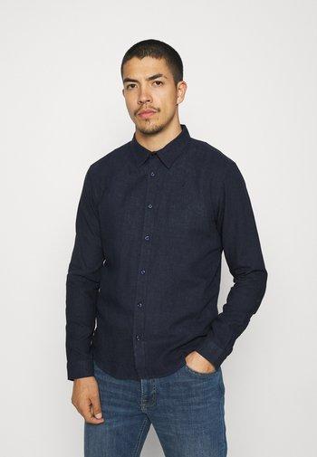 LEINEN MIX - Zakelijk overhemd - navy