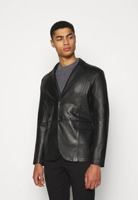 STUDIO ID - VINCENT LEATHER BLAZER - Kožená bunda - black - 0