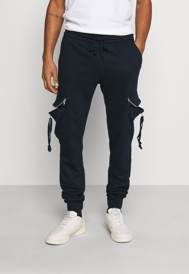 ESSENTIAL JOGGERS - Tracksuit bottoms - navy