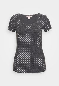 Anna Field - Print T-shirt - mottled grey/white - 4
