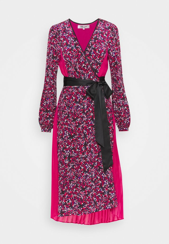 ARIADNE - Robe longue - sea ground red/hot pink