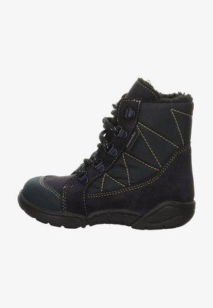 HANSI - Winter boots - black / blue