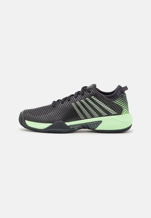 HYPERCOURT SUPREME - Clay court tennis shoes - blue graphite/soft neon green