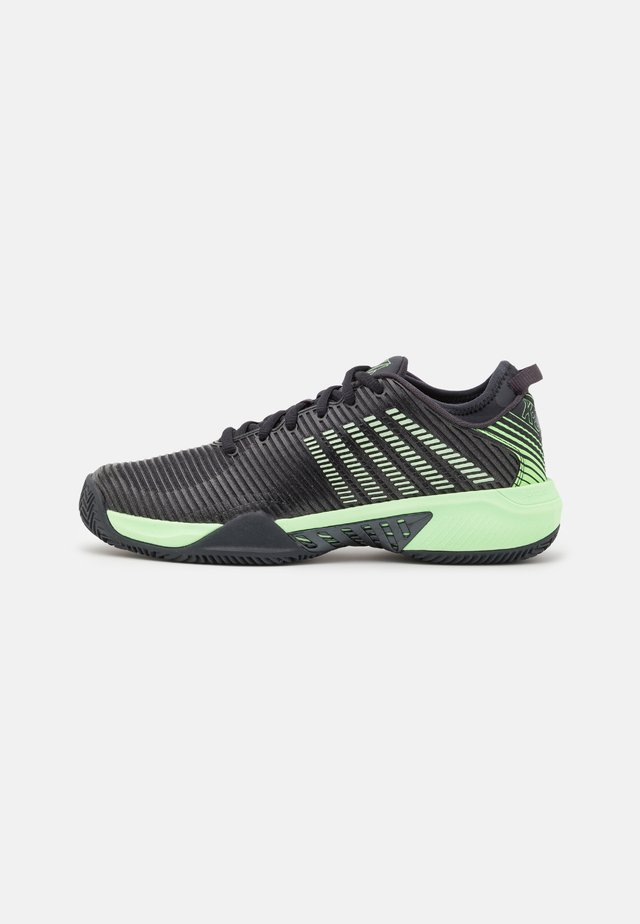 HYPERCOURT SUPREME - da tennis per terra battuta - blue graphite/soft neon green