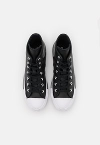 Converse - CHUCK TAYLOR ALL STAR MONO - Zapatillas altas - black/pure silver/white - 5