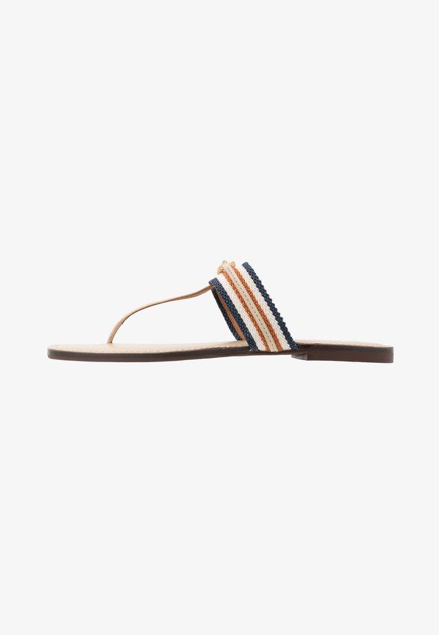 JESSA THONG  - T-bar sandals - dulce de leche/tan/multicolor