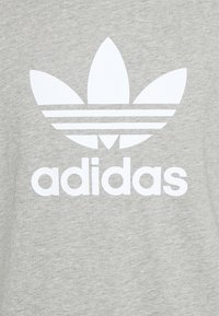 adidas Originals - TREFOIL UNISEX - T-shirt med print - medium grey heather/white - 6