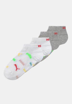 LOGO SNEAKER 4 PACK UNISEX - Socks - white/grey melange