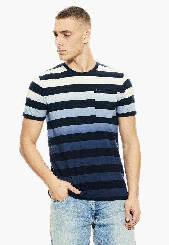 T-shirt print - denim blue