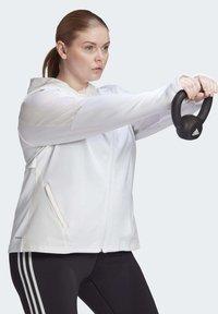 adidas Performance - AEROREADY KNIT JACKET (PLUS SIZE) - Chaqueta de entrenamiento - white - 2