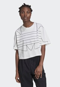 adidas Originals - LARGE LOGO T-SHIRT - Camiseta estampada - white - 0