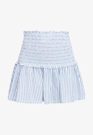 Falda plisada - blue with white
