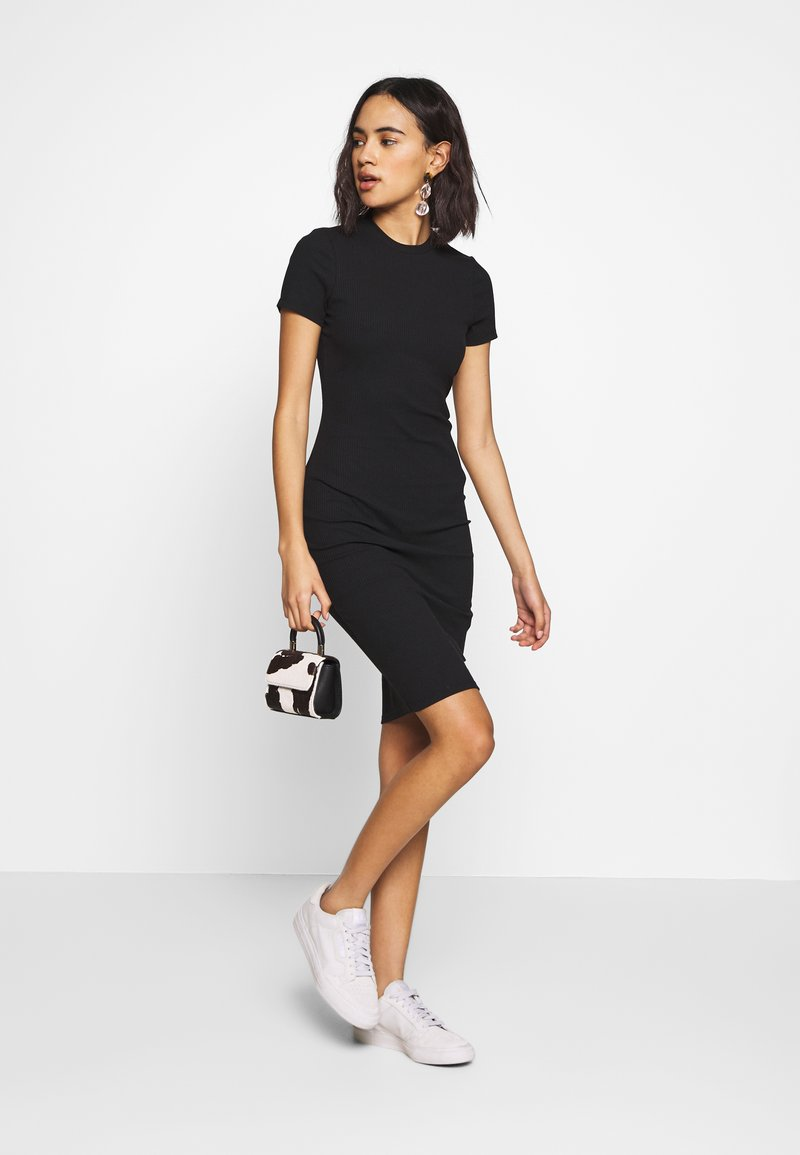 Cotton On GISELLE SHORT SLEEVE DRESS - Etuikleid - black/schwarz PWpPdG
