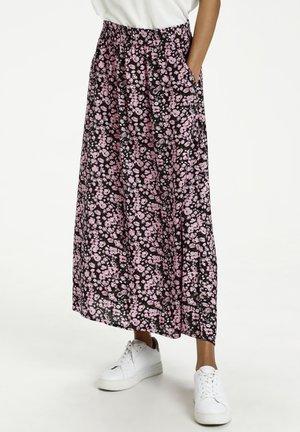 A-line skirt - candy pink / grape leaf flower