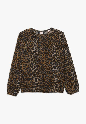 IN BOXY FIT WITH ALL OVER PRINT - Blouse - cognac