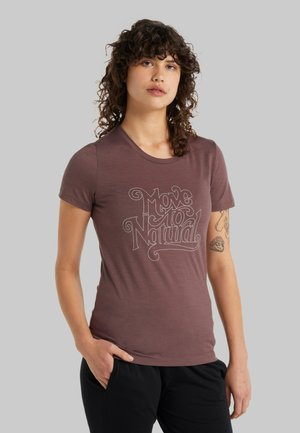 MOVE TO NATURAL - Print T-shirt - mink
