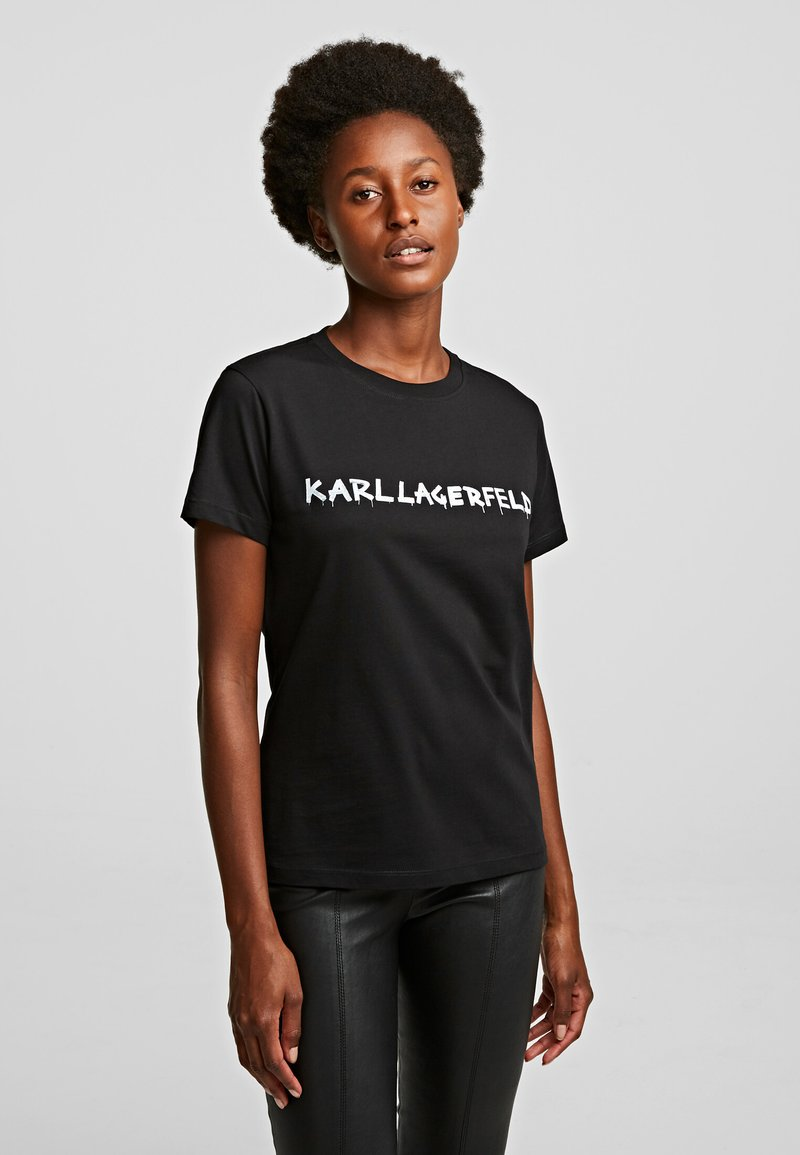 KARL LAGERFELD - Print T-shirt - black