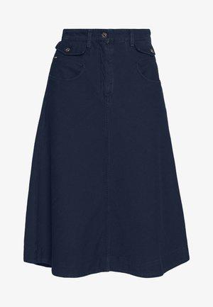 ARMY RADAR MIDI - A-line skirt - sartho blue