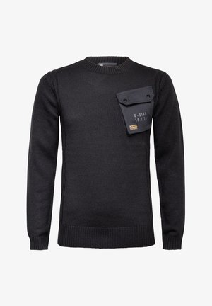 ARMY PKT ROUND LONG SLEEVE - Pullover - dk black